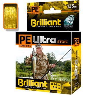 Плетёный шнур PE Ultra Brilliant Stoic Ultra Yellow 0,14 мм 135 м