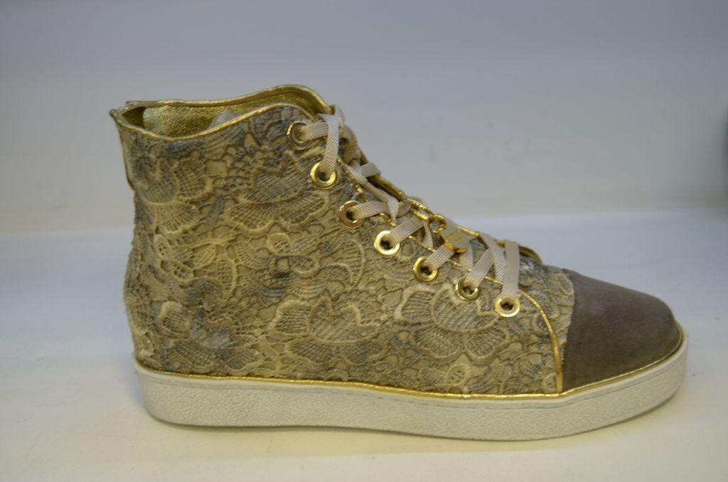 fc9b8ee5a Кеды Италия Lorenzi женские золото от итальянского дизайнера женской обуви Италии  Lorenzi купить