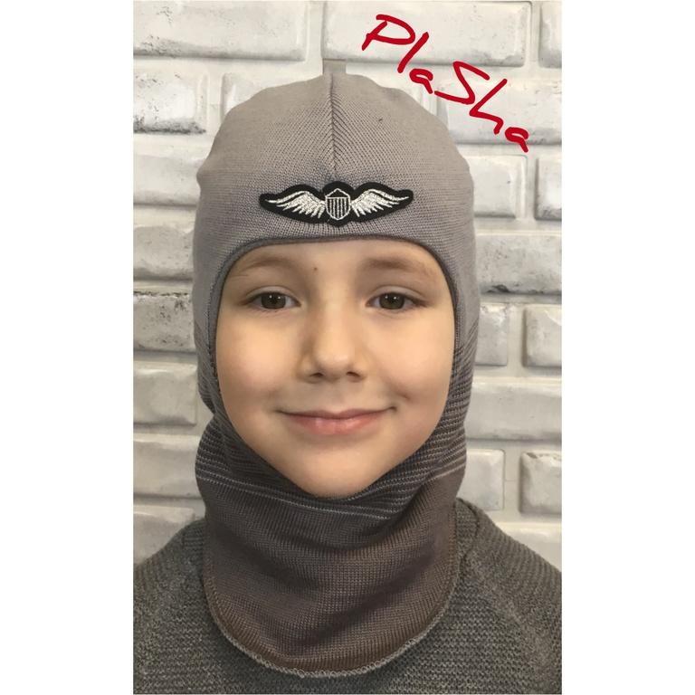 Арт.054 Шлем на флисовом подкладе для мальчиков