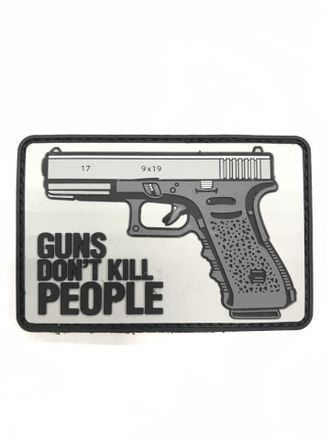Патч Glock Guns don't kill (7,5 х 5 см)