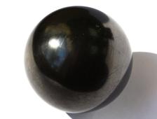 Шар из Шунгита полированный, Карелия (47 мм, 127 г) №14498
