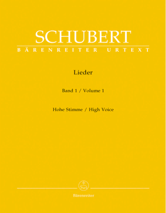 Schubert Songs Volume 1 (high voice)