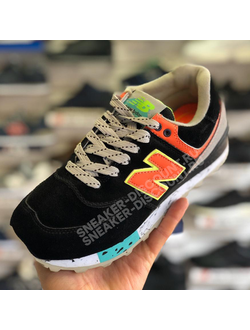 NEW BALANCE 574 BLACK ORANGE ЖЕНСКИЕ