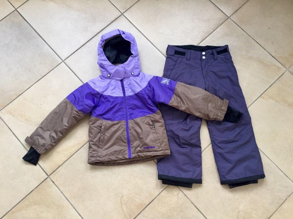 9899996f57ec Размер 116 - Зимний мембранный горнолыжный костюм Progress by Reima цвет  Violet Brown