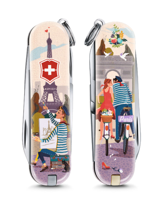 "Нож-брелок VICTORINOX Classic ""The City of Love"", 58 мм, 7 функций"