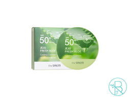 Кушон для лица The Saem Jeju Fresh Aloe Cooling Cushion Natural Beige SPF50