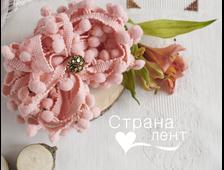 Тесьма с помпонами, цвет Персик