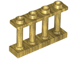 Fence 1 x 4 x 2 Spindled with 4 Studs, Pearl Gold (15332 / 6060803)