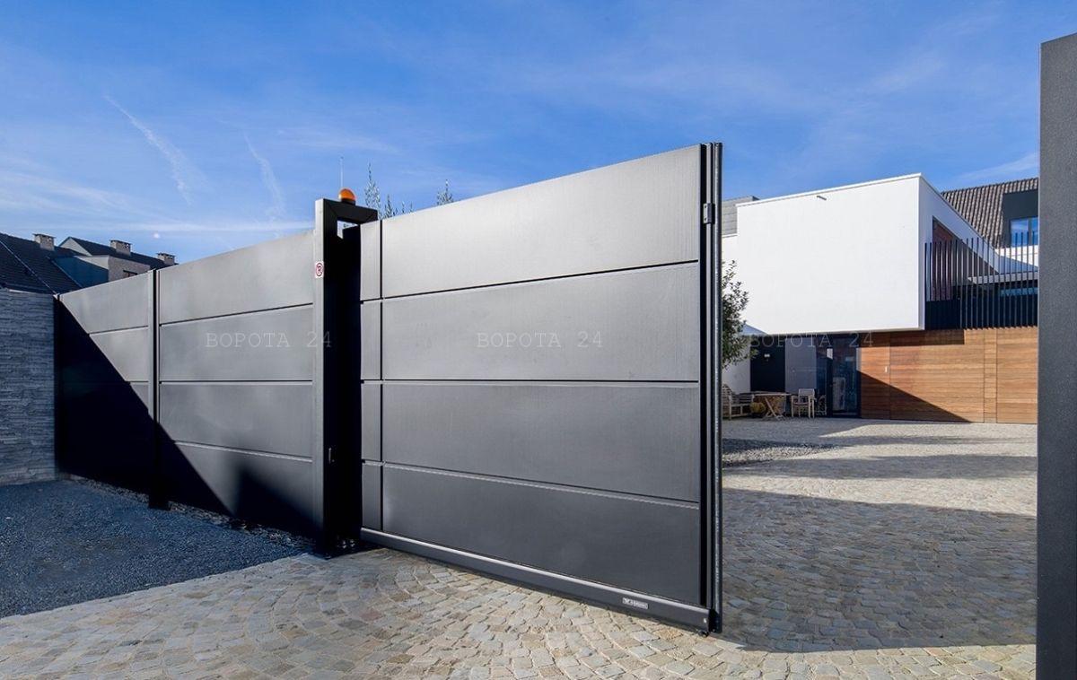 Современные фабричные откатные ворота польского производителя Вишневски