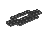 Vehicle, Base 4 x 10 x 2/3 with 4 x 2 Recessed Center with Smooth Underside, Black (30029 / 4114131 / 4207015 / 4277681 / 4656764)