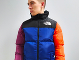 Куртка / Бомбер The North Face ColorBlock Padded Синий / Оранжевый