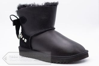 Угги UGG Australia Mini Bailey Bow Metallic Black женские арт. U80