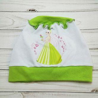 Шапка для девочки (Артикул 1159) цвет зелёный