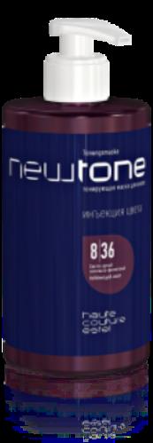 Тонирующая маска для волос NEWTONE 8/36, светло-русый золотисто-фиолетовый