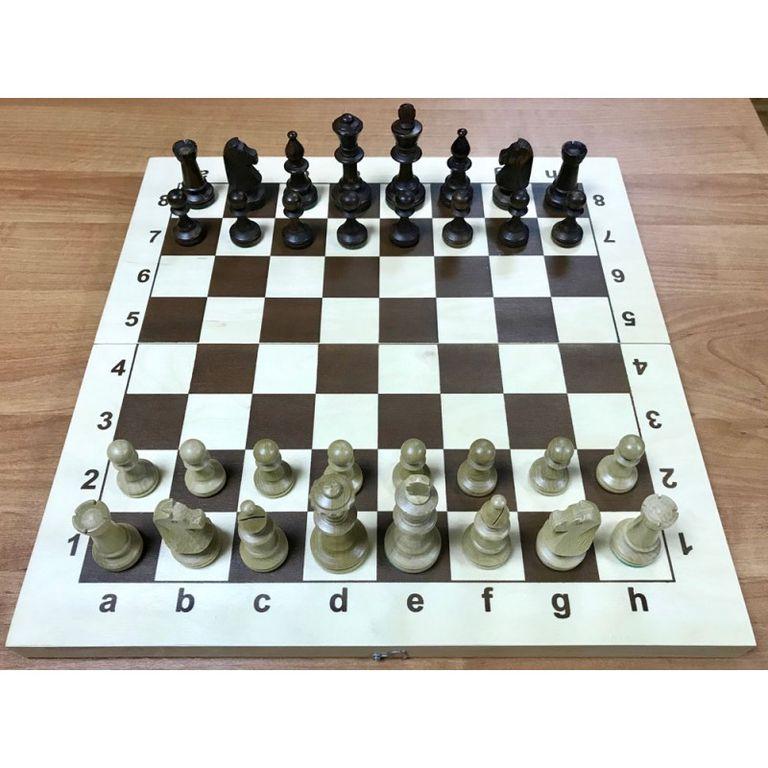 Фото Шахматы Стаунтон N5 с утяжелителем с деревянной складной доской 43 см