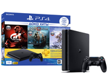 Игровая консоль Sony Playstation Slim 1TB черная + GOW + HZD + GTS + 90D РСТ