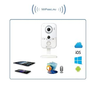 EZVIZ C2W (CS-CV100-A0-30EPFR(4mm))  Бюджетная WiFi/LAN видеокамера с DVR, HD