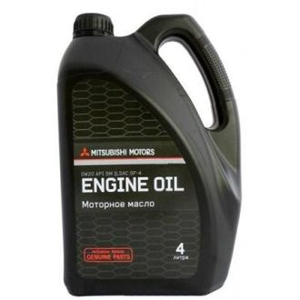 Моторное масло MITSUBISHI Motor Oil SAE 0W-20 SM (4л)