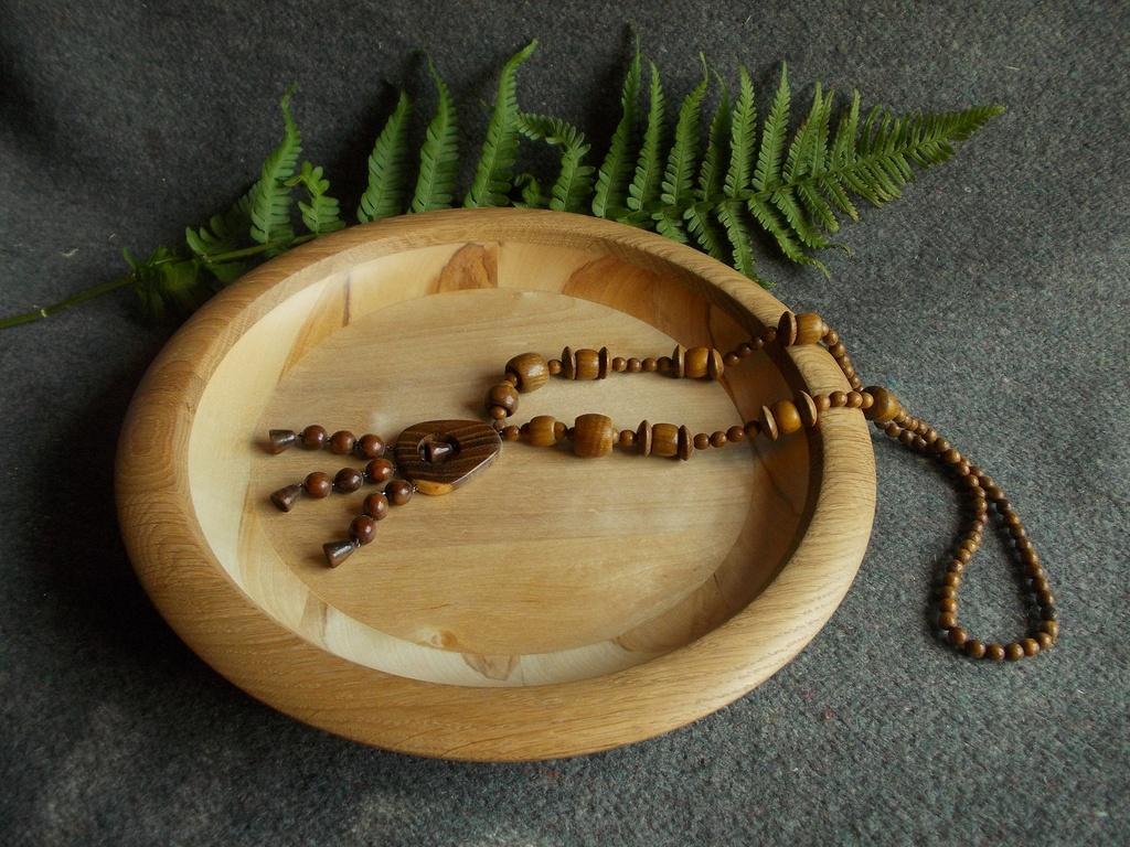 Блюдо для фруктов из дерева из Великой Кракотки, деревянная декоративная посуда