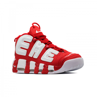 Nike Air More Uptempo 96 Supreme Красные с белым