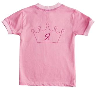 """Футболка для девочки """"а Я принцесса"""" (Артикул 2142-492)"""