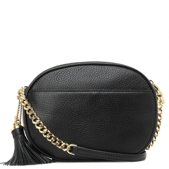 Клатч Michael Kors Ginny Medium Leather Crossbody (Черный)