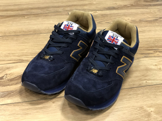 КРОССОВКИ NEW BALANCE 574 BLUE/GOLD
