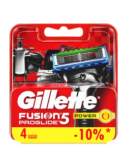 Сменная кассета Gillette Fusion5 ProGlide Power, 4 шт (Формула 1)