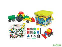 Конструктор Morphun Junior Xtra 10 Vehicles Set «Машины Экстра», 4+