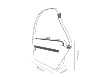 Сумка Xiaomi 90 points fashionable postman bag красная