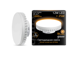 Gauss LED 12w 827/840 GX70