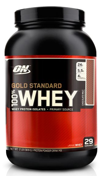 (Optimum Nutrition) 100% Whey Gold Standard - (908 гр) - (банановый крем)