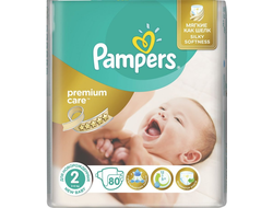 Подгузники Pampers Premium Care №2 3-6 кг 80 шт.