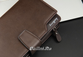 Мужской клатч Baellerry Business Brown и часы Emporio Armani