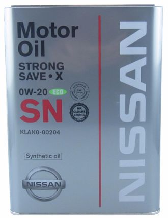 Масло моторное Nissan Strong Save X 0W-20 4л. KLAN0-00204