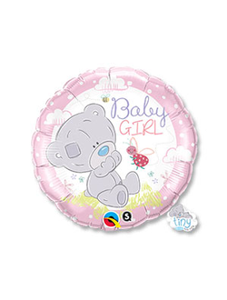 "круг мишка Baby girl (qualitex) 18"" 46 см"