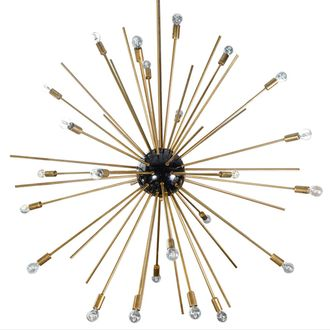 Huge Sputnik Chandelier Gold and Black