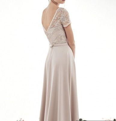 132eb4906b1653c Красивое вечернее платье в пол на свадьбу бежевого цвета светлых ...