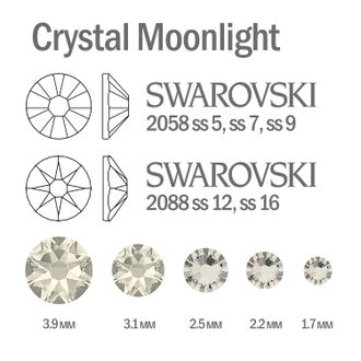 Мини-микс страз для маникюра Crystal Moonlight - 30шт
