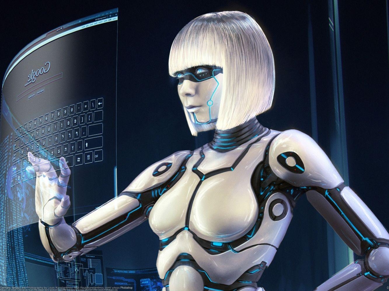 Робот трахает бабу думаю