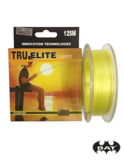 TRUE ELITE light, 125m, желтая  (0.8mm, 0.10mm, 0.12mm, 0.14mm)