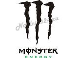 Наклейка на авто Monster Energy