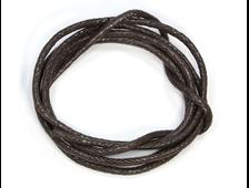 Шнурок для кулона плетеный, хлопок, цвет коричневый, толщина 2 мм, длина 85 см (1 шт.) №20963