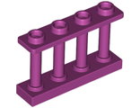 Fence 1 x 4 x 2 Spindled with 4 Studs, Magenta (15332 / 6277611)