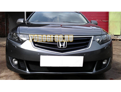 Защита радиатора Honda Accord VIII 2008-2011 black