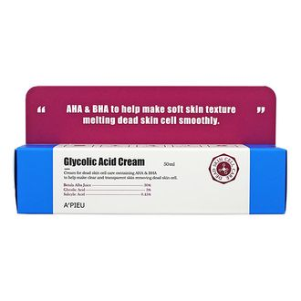 Крем для лица с АНА и ВНА кислотами Glycolic Acid Cream A'PIEU 50мл