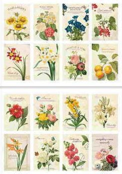 "Наклейки ""Lovely Stamps. Botanical"""