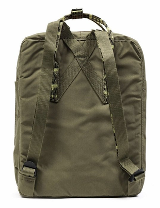 Рюкзак Fjallraven Kanken Green/Folk Pattern (620-913)