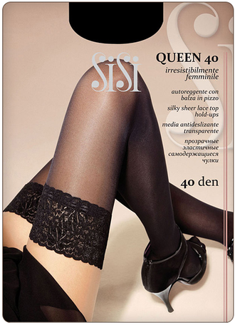 SiSi Queen 40 den 3=M (Nero)