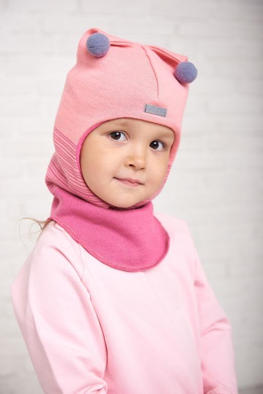 Арт.053 Шлем на флисовом подкладе для девочек и мальчиков